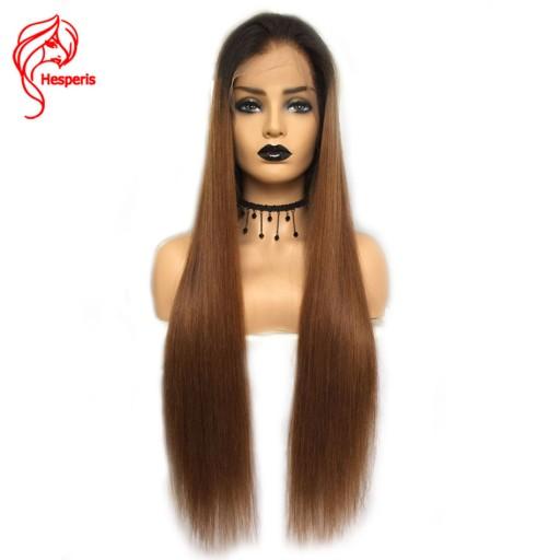 8A Ombre Silky Straight Lace Front Brazilian Virgin Human Hair Wigs