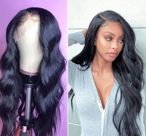 8A Lace Front Wigs Body Wave Virgin  Human Hair Wigs With Baby Hair