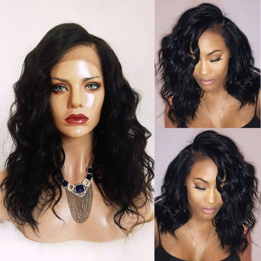 8A Loose Wave Lace Front Brazilian Human Hair Wigs Natural Hairline