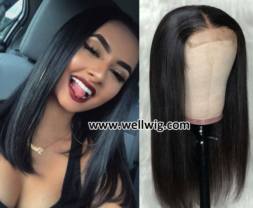 special sales 13*6inch lace front human hair wigs medium length