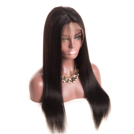 8A Full Lace Silky Straight Human Virgin Hair Wigs