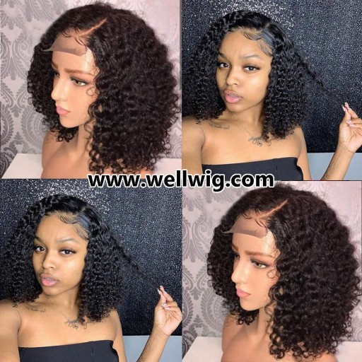 human hair kinky curly lace front wig