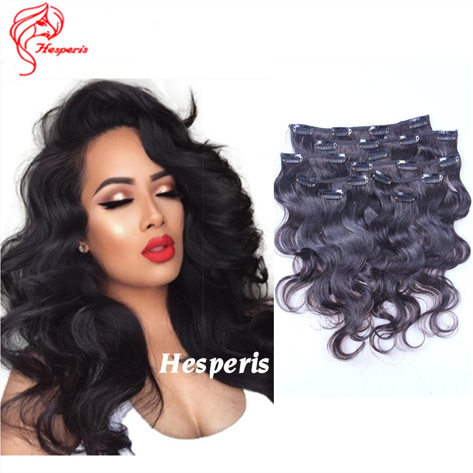 Clip in human hair extensions light italian yaki straight clip in 100 grams body wave clip in human hair extensions epacket freeshipping pmusecretfo Choice Image