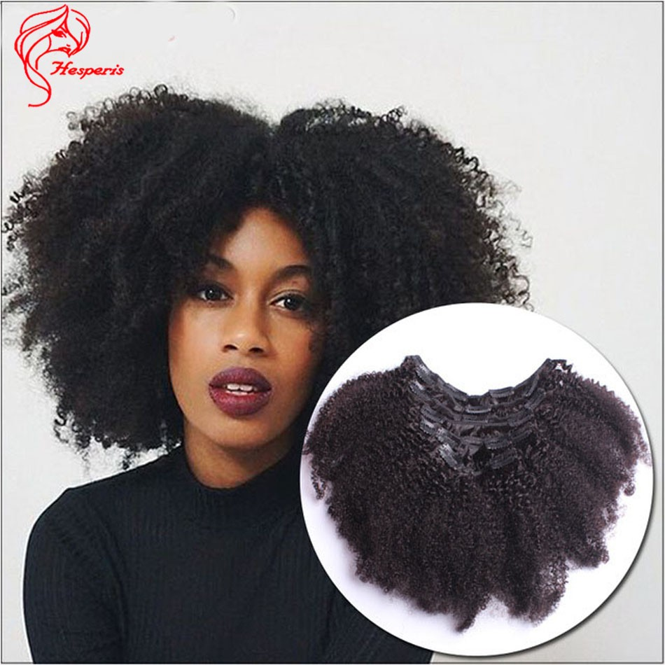 100 Grams Afro Kinky Curly Clip In Hair Extension Epacket Freeshipping