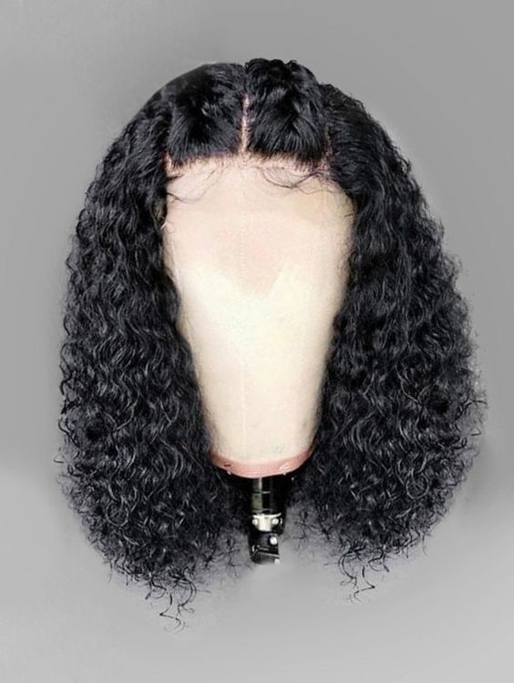 Kinky Curly Human Hair Glueless Full Lace