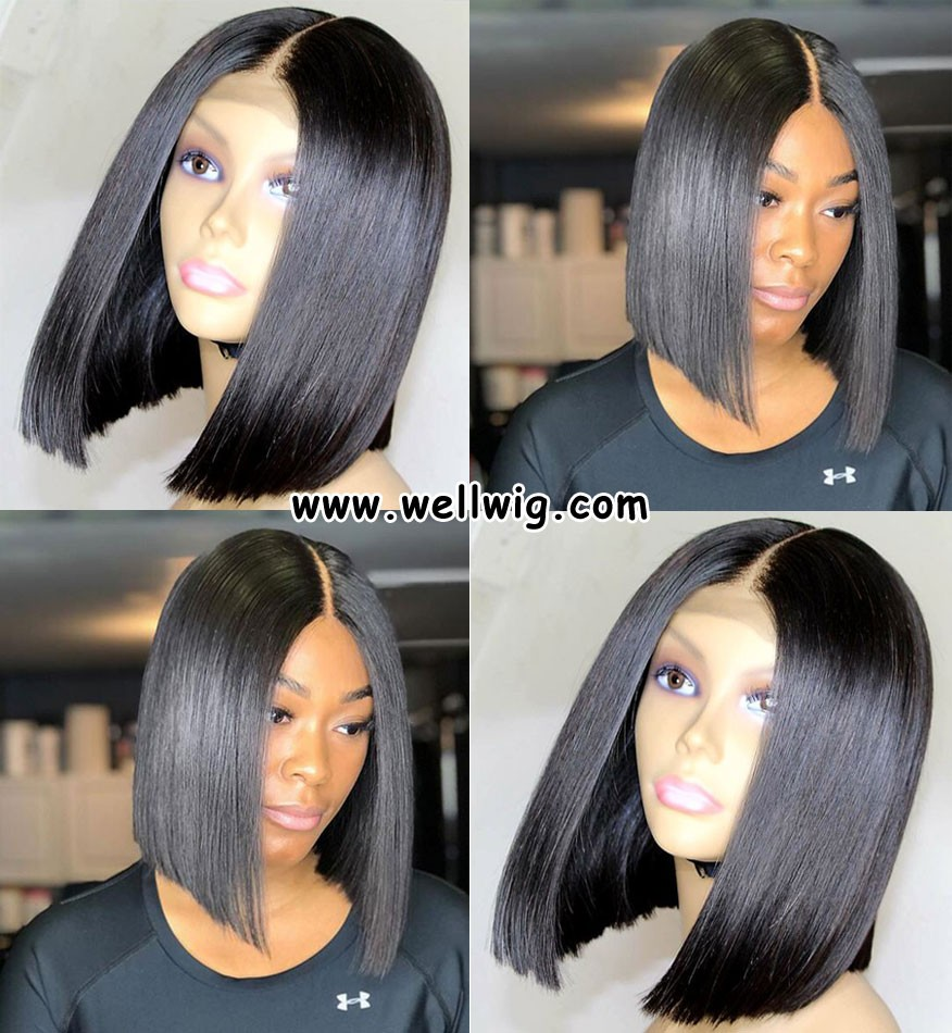 13*6 inch short cut human hair lace front
