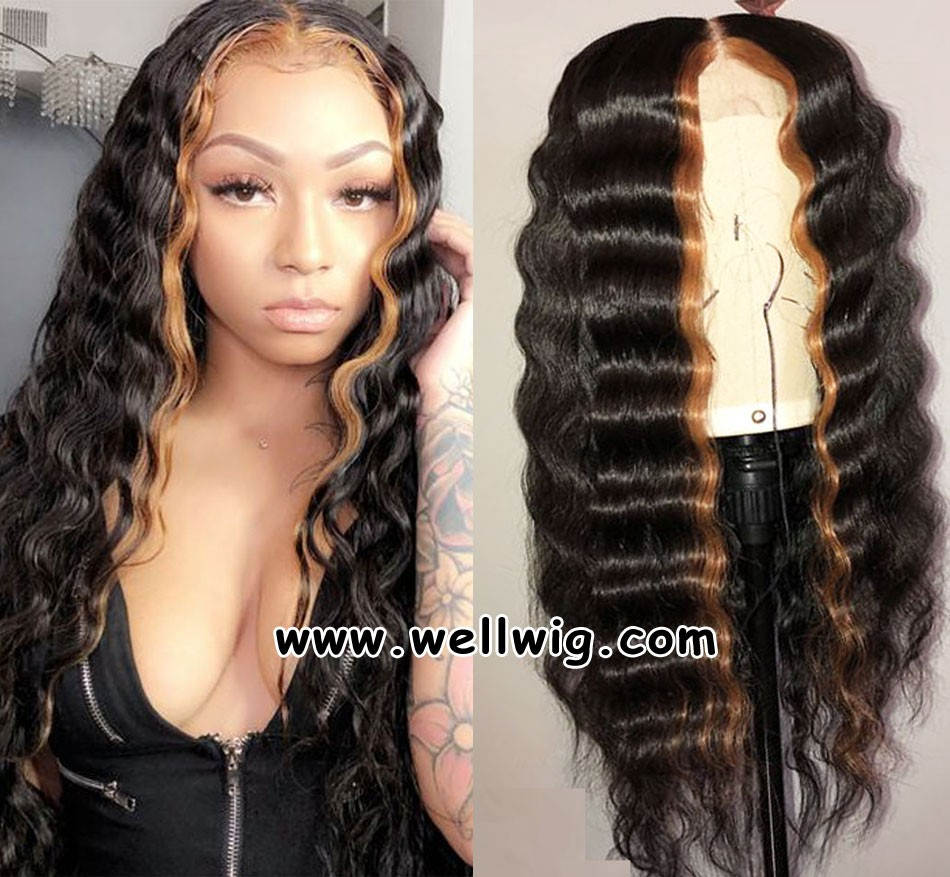 Special Hairstyle Soft Water Wave Lace Front Human Hair Wigs With