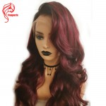 8A #1B/Bur Body Wave Brazilian Virgin Hair Lace Front Wigs