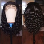 8A gorgeous curly lace front human hair wig