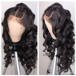 soft wavy full lace human hair wig