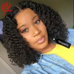 special sales!! 13*6inch lace front wig short kinky curly human hair