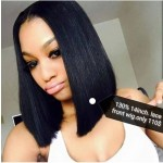 special sales!!short bob lace front wig human hair