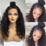 8A Kinky curly Full Lace Brazilian Human Hair Wigs