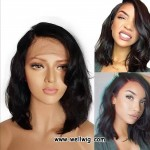 Lace Front Loose Wave Short Human Hair Wigs