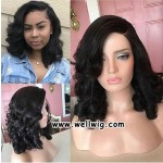 8A Short Body Wave  Lace Front Human Hair Wigs