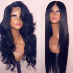 silky straight and wavy lace front human hair lace wig