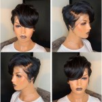 special sales 8 inch pixie cut human hair wigs