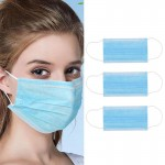 10/20PCS Disposable Profession Protective Mask 3-Ply Nonwoven Facial Cover Dust Mask Anti-COVID-19 Anti Bacterial Virus Safety Mask