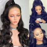 human hair soft wave 360 lace frontal wig
