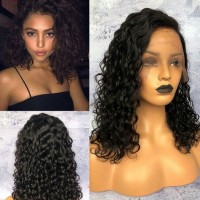 sexy short curly human lace front wig