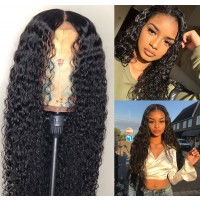 kinky curly lace front wig human hair