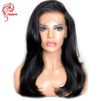 8A full lace human hair wig with baby hair