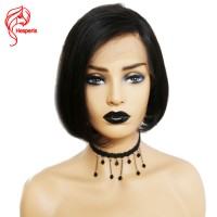 8-14 Inches Straight Bob Virgin Hair Lace Front Wigs Human Hair