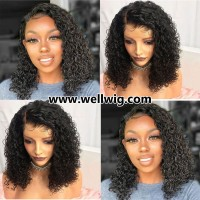 130density gorgeous full lace human hair curly hairstyle