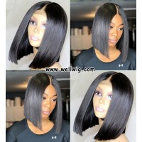 13*6 inch short cut human hair lace front bob wigs