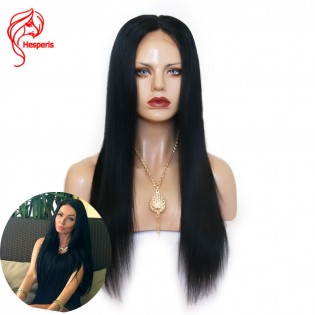 8A straight Lace Front Human  Brazilian Virgin Hair Wigs