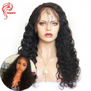 8A Water Wavy Brazilian Virgin Hair Lace Front Wigs