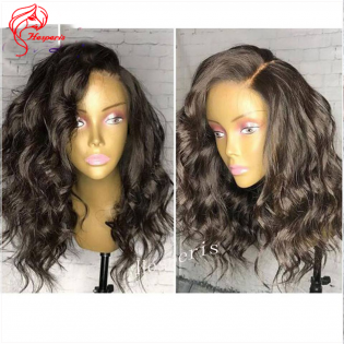 8A  Pre-Plucked 14-18 Inch Short Wavy Brazilian Virgin Hair 13*6 inch Lace Front Wigs