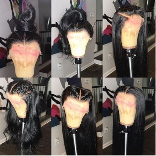 silky straight full lace wig human hair free part