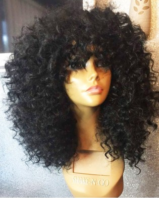 8A Lace Front For Women 180% Density Curly Brazilian Hair Wig Hesperis Wig