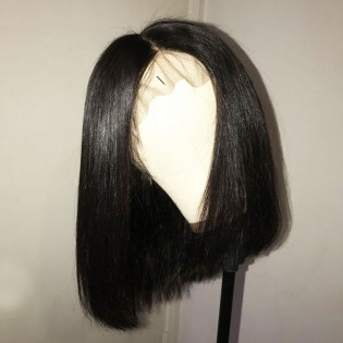10-14 Inches Short Bob Human Virgin Hair Lace Front Wigs
