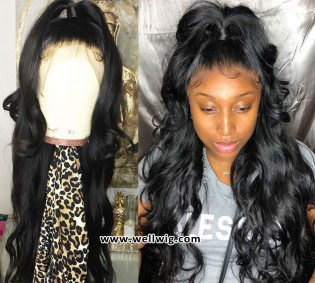 Wavy Brazilian Virgin Full Lace Human Hair Wigs