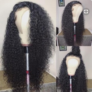 8A Kinky Curly Human Hair Full Lace Wigs
