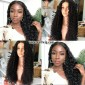 Kinky Curly Lace Front Human Hair Wigs For Black Women 8A Grade Brazilian Virgin Hair